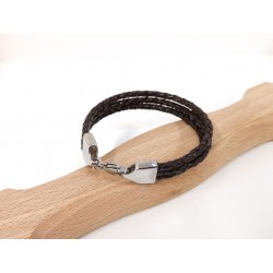 Bracelet cuir Tressé...